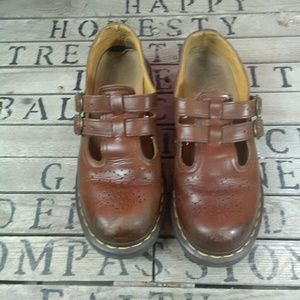Dr. Martens Shoes - VTG 90s Dr Martens Mary Janes Dbl Buckle